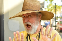 Hoon Calhoun caught on camera! (radargeek) Tags: hooncalhoun charleston sc southcarolina surprise shock hat portrait august 2017 downtown
