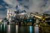 No need for a long view to admire Notre Dame (Julien CHARLES photography) Tags: europe france hdr laseine notredame notredamedeparis paris crue longuevue night nuit