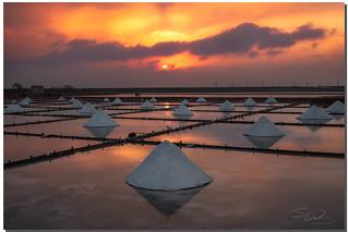 Sunset at Salt Field, 井仔腳瓦盤鹽田, Tainan, Taiwan