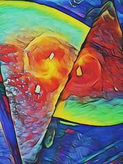Lyrical Rainbow Melon Abstraction (instamatiic.3nigma) Tags: fruity fruit melon watermelon rainbow