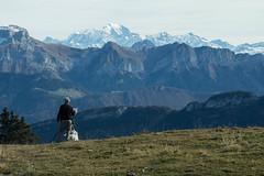 Le peintre (Gisou68Fr) Tags: lesemnoz hautesavoie 74 france peintre montagnes mountains montblanc canoneos650d