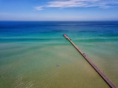 Bud of my rose (Pat Charles) Tags: rosebud victoria australia morningtonpeninsula drone dji mavicpro aerialphotography beach ocean sea water sky lookingdown pier jetty rye mcrae blairgowrie portphillipbay bay baybeach mavic melbourne