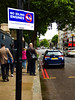 Going for a Double (Steve Taylor (Photography)) Tags: noidlingengine doubleredlines fixedpenaltynotice fpn £40 blue yellow red white green sign uk gb england greatbritain unitedkingdom london car automobile bus trafficlights