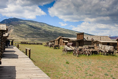 Old Trail Town - Cody, Wyoming (DT's Photo Site - Anderson S.C.) Tags: canon 40d tamron 1750mmefs codywy wyoming mountains ghosttown prarire wagons vanishing vintgage frontier cowboy plains america usa scenic landscape