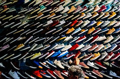 Sneakers. Lots of sneakers! I took this picture at a place called El Chopo. A small street next to the big library called Biblioteca Vasconcelos 📚 (Frederik Trovatten) Tags: street mexicano market shadows shadow shoes sneakers cdmx mexico streetphotography colors