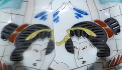 Memoirs of a Geisha (Charos Pix) Tags: memoirsofageisha macromondays myfavouritenovelfiction novel mountfuji book mirror reflection ceramic bowl