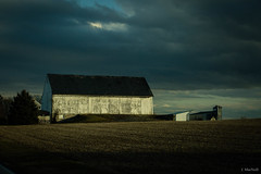 white barn (Jen MacNeill) Tags: rural barn farm lancaster county pa pennsylvania rain storm weather winter jennifermacneill