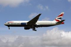 G-YMME (FabioZ2) Tags: londra britishairways boeing 777236er atterraggio