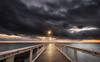 Moody Morning (Beth Wode Photography) Tags: sunrise dawn morning moodymorning jetty pier clouds darkclouds wellingtonpoint redlands qld starburst wellingtonpointjetty beth wode bethwode