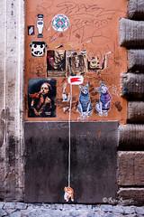 Roma. Trastevere. Street art by Point Eyes, Zeta, Jesus tifa Toro, Valda, Blackheart.boy, About Ponny, Eiknarf, Guaro (R come Rit@) Tags: italia italy roma rome ritarestifo photography streetphotography urbanexploration exploration urbex streetart arte art arteurbana streetartphotography urbanart urban wall walls wallart graffiti graff graffitiart muro muri artwork streetartroma streetartrome romestreetart romastreetart graffitiroma graffitirome romegraffiti romeurbanart urbanartroma streetartitaly italystreetart contemporaryart artecontemporanea artedistrada underground trastevere rionetrastevere pointeyes zeta jesustifatoro valda blackheartboy aboutponny eiknarf guaro poster posterart colla glue paste pasteup sticker stickers stickerart stickerbomb stickervandal slapart label labels adesivi slaps signscommunication roadsign segnalistradali signposts trafficsignals