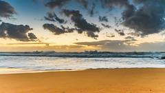 Sunrise Seascape with Big Surf (Merrillie) Tags: daybreak sunrise centralcoast cloudy australia morning surf sea waves landscape newsouthwales rocks earlymorning nsw killcarebeach beach ocean waterscape clouds water coastal nature outdoors seascape dawn coast killcare sky