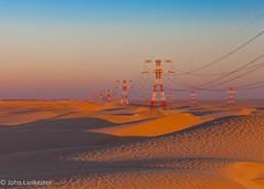 Desert power (Jhopne) Tags: abudhabi jan18 sunset sky desert emirates uae powerlines sand goldensand canonef2470mmf28lusm canoneos5dmarkii