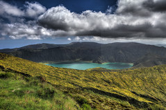 Lagoa do Fogo (Elios.k) Tags: horizontal outdoors nopeople lake lagoadofogolagoon firelagoon landscape water green forest trees nature sky dramaticsky blue clouds cloudy weather hills greenisland volcaniccrater crater caldera ilheverde miradourodopicodabarrosa águadepaumassif stratovolcano vistapoint viewpoint hdr highdynamicrange colour color travel travelling june2017 summer vacation canon 5dmkii photography island pontadelgada saomiguel acores azores portugal europe