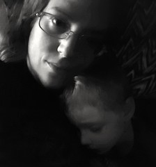 My World 💙 (SurFeRGiRL30) Tags: motherson portrait bw beautiful sleeping son mother mommy mom love
