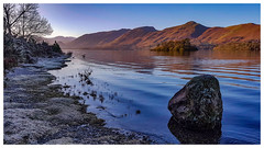 Fire and Ice (mandysp8) Tags: derwentwater lake frost cold winter mountains sunrise frozen rock uk allerdale lakedistrict nationalpark cumbria