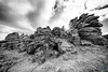 Hound Tor - Dartmoor - B&W Version (pm69photography.uk) Tags: houndtor dartmoor bw blackandwhite devon southwest sony spooky sonya7rii a7rii ilce7rm2 voigtlander voigtlanderheliarf56 voigtlanderheliar10mmf56 rugged erie moody moor moors