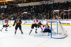 """Kansas City Mavericks vs. Cincinnati Cyclones, February 2, 2018, Silverstein Eye Centers Arena, Independence, Missouri.  Photo: © John Howe / Howe Creative Photography, all rights reserved 2018. • <a style=""""font-size:0.8em;"""" href=""""http://www.flickr.com/photos/134016632@N02/39219886195/"""" target=""""_blank"""">View on Flickr</a>"""