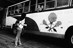 Three Roses (Meljoe San Diego) Tags: meljoesandiego fuji fujifilm x100f streetphotography bus candid monochrome alaminoscity philippines