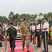 U.S. Army leadership honors Royal Thai Army Commander-in-Chief during a ceremony aboard Palm Circle, Fort Shafter