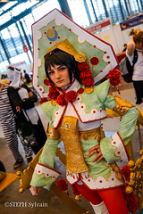 Japan Expo 2017 4e jrs-224 (Flashouilleur Fou) Tags: japan expo 2017 parc des expositions de parisnord villepinte cosplay cospleurs cosplayeuses cosplayers française français européen européenne deguisement costumes montage effet speciaux fx flashouilleurfou flashouilleur fou manga manhwa animes animations oav ova bd comics marvel dc image valiant disney warner bros 20th century fox star wars trek jedi sith empire premiere ordre overwath league legend moba princesse lord ring seigneurs anneaux saint seiya chevalier du zodiaque