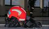 Lymm Fire Service Rope Practice at Daresbury Laboratory (joanjbberry) Tags: fire service lymmfirebrigade cheshirefireservice daresbury daresburylaboratory training ropetraining abseiling fireman firemen tower cheshire workingatheight longwaydown helmet