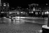 Dancing light (Bomanson) Tags: blackandwhite bw monochrome gothenburg street night sweden