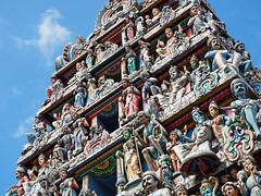 Where's Waldo (SGarriott) Tags: sgarriott scottgarriott olympus omd em5ii 40150mmf28 singapore asia temple indian srimariamman hindu building tower statues figures