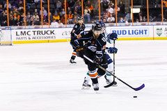 "Kansas City Mavericks vs. Florida Everblades, February 18, 2018, Silverstein Eye Centers Arena, Independence, Missouri.  Photo: © John Howe / Howe Creative Photography, all rights reserved 2018 • <a style=""font-size:0.8em;"" href=""http://www.flickr.com/photos/134016632@N02/39491134465/"" target=""_blank"">View on Flickr</a>"