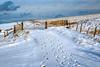 So much snow!!!! (MarkandJackiephotos) Tags: bluesky clouds footprints hills peakdistrict derbyshire grasses fence snow blue purple