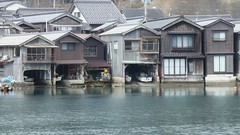 Ine no Funaya Houses / 京都 伊根の舟屋 Fishing Village INE (maco-nonch★R) Tags: kyoto kioto ine house funaya 伊根 舟屋 throughherlens lowangle slowshutter asia