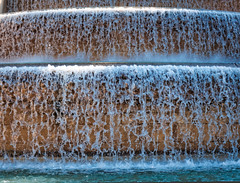 Frozen (Мaistora) Tags: water waterfall cascade artificial decorative feature fountain architectural design palace national montjuic barcelona stop freeze motion exposure fast shutter speed texture shapes glasslike dynamics