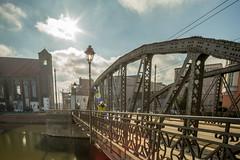 Most Młyński (pasiak75) Tags: 2018 ostrówtumski samyang24mm35ts starówkawrocławska tiltshift wroclaw manuallens mirror odbicie ogródbotaniczny outdoor reflections winter woda zima