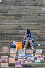 Sign of the times (Bob Edwards Photography - Picture Liverpool) Tags: sign liverpool william brown merseyside homeless steps