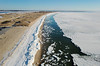 Hardings Beach and  Frozen Nantucket Sound (Chris Seufert) Tags: hardings beach chahtam chatham aerial cape cod drone winter frozen sea ocean