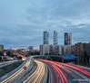 6 Torres y Estelas (Félix Abánades) Tags: torres señales trafico hora azul