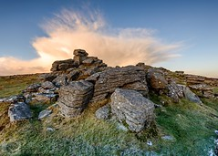 Dramatic Dartmoor (Chris Jones www.chrisjonesphotographer.uk) Tags: baron moorland photographer jones chris uk england west south grass granite rocks sunset hail hailstorm tor dartmoor devon