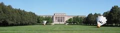 South facade of Nelson-Atkins Museum of Art (procrast8) Tags: kansas city mo missouri nelson atkins museum art shuttlecocks sculpture claes oldenburg coosje van bruggen