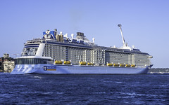Ovation of the Seas - Royal Caribbean International (Paul Leader - All Rights Reserved) Tags: cruiseship ovationoftheseas royalcaribbeaninternational sydney olympus paulleader ship boat vessel holiday cruise nsw newsouthwales australia voyage