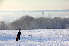 Canterbury Cathedral and slopes, Another cold beautiful snowy day at University of Kent (Jim_Higham) Tags: he university excellent teaching research gold tef england christmas card