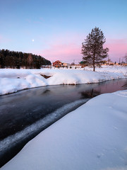 the touch of cold (Sergey S Ponomarev) Tags: sergeysponomarev canon eos 70d landscape paysage paesaggio landschaft inverno neve frost cold winter river ice village country rural 2018 january russia russie north nord morning dawn sunrise hdr highdynamicrange europe efs1018mmf4556isstm сергейпономарев природа nature natura moon clouds house building forest pink лес деревня дерево река никульчинка рассвет январь снег север россия вятка киров волково холод мороз
