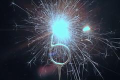 Now We are Six (christina.marsh25) Tags: macromondays myfavouritenovelfiction nowwearesix aamilne poetry birthday candle six sparkler firework