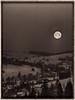 Moonset in Ždiar village (Michal Gazovic) Tags: moon morning blackandwhite bw sepia olympus e510 ždiar slovakia winter snow silvereffexpro filterbwfilmagfaapx400