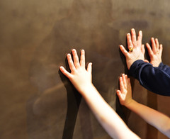 Unexplained (Chancy Rendezvous) Tags: unexplained hand holding wall metal handprints prints fingers arms ericcarle museum massachusetts amherst