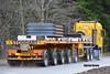 STODDART CRANE HIRE DAF 95 XF 530 SPACE CAB N200 SCH (Darren (Denzil) Green) Tags: stoddartcranehire dingwallpanelbeaters gfjob muiroford cranehire heavycranedivision heavyhaulage stgocat gmk5250l grove ballast tabletop nooteboomtrailers nooteboom n200sch spacecab daf daftrucks exhaust stacks