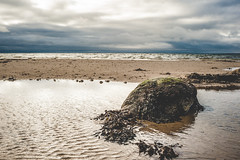 Stranded Rock (tainkeh) Tags: 2018 rock zealand landscape winter hornsherred nature water denmark outdoor weather fjord cloudporn beach stone strand cloud overcast storm nordsjælland 365 kulhuse europe january visitnordsjaelland 365project visitdenmark landskab project365