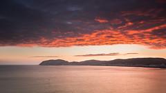 sunrise (ledwar) Tags: llandudno colourfulsky clouds sunrise morning canon red seascape sea greatorme littleorme hillside