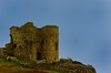 Criccieth castle. (alex.vangroningen) Tags: castle rocks stones blue sky northwales criccieth ruine grass outdoors flagpoles nikond2h