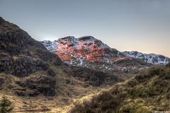 Binnen an Fhidhleir sunset; Argyll & Bute, Scotland (Michael Leek Photography) Tags: awesomescotland thisisscotland westcoastofscotland westernscotland westernhighlands scotland scottishlandscapes scotlandslandscapes scottishhighlands sunset mountains scotlandinwinter sunsets scottishsunsets restandbethankful argyllandbute argyll cowal cowalpeninsula hdr highdynamicrange michaelleek michaelleekphotography