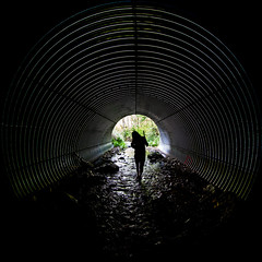 What the Passage Means (Thomas Hawk) Tags: america glendale julia juliapeterson oregon southernoregon usa unitedstates unitedstatesofamerica mrsth silhouette spouse tunnel wife fav10 fav25 fav50