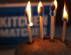 MM Hot Potato (Sarah_ES) Tags: macromondays flame light hot matches four heat food potato